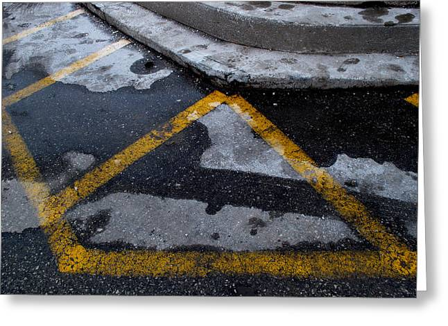 Yellow Lines 2  Greeting Card by Lyle Crump