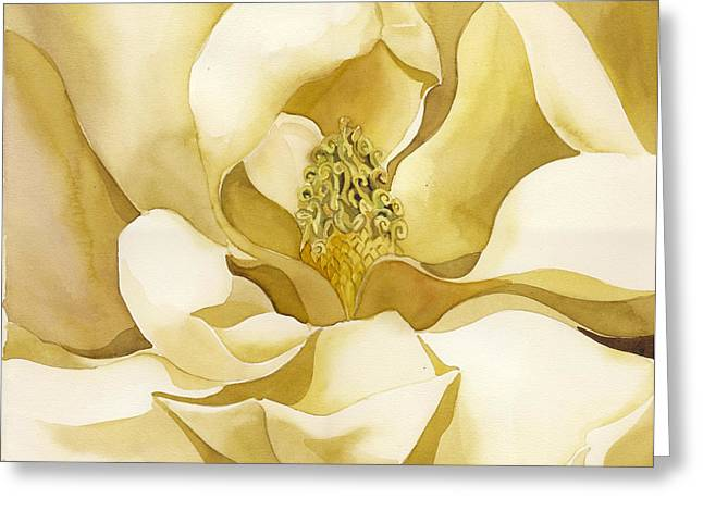 Yellow Magnolia Greeting Card