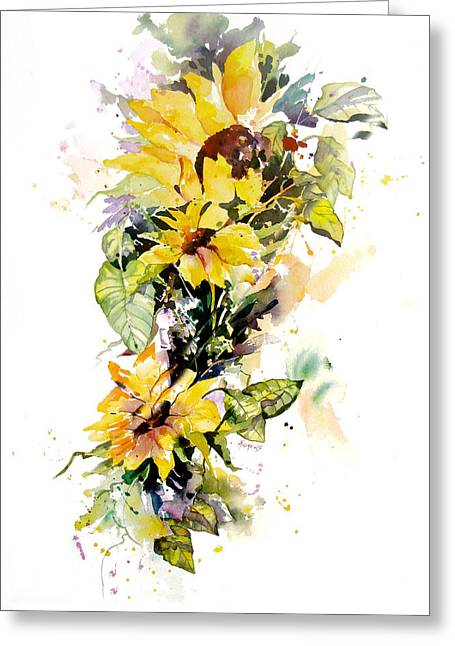 Yellow Majesty Greeting Card by Rae Andrews