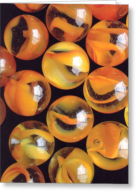 Yellow Marbles 2 Greeting Card