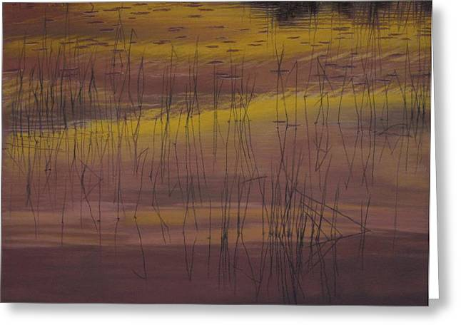 Yellow Marsh Greeting Card