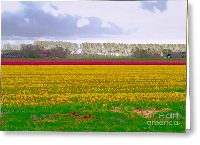 Greeting Card featuring the photograph Yellow Meadow by Luc Van de Steeg