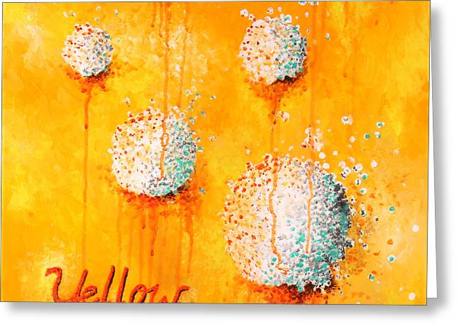 Yellow Greeting Card by Michelle Boudreaux