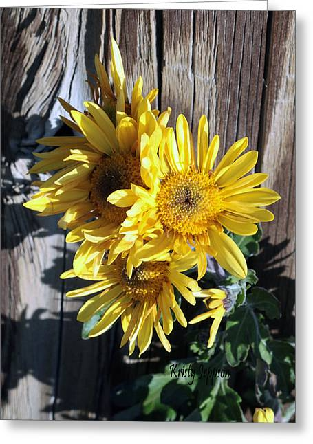 Yellow Mum Greeting Card