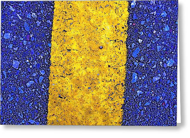 Yellow On Blue Stone Greeting Card