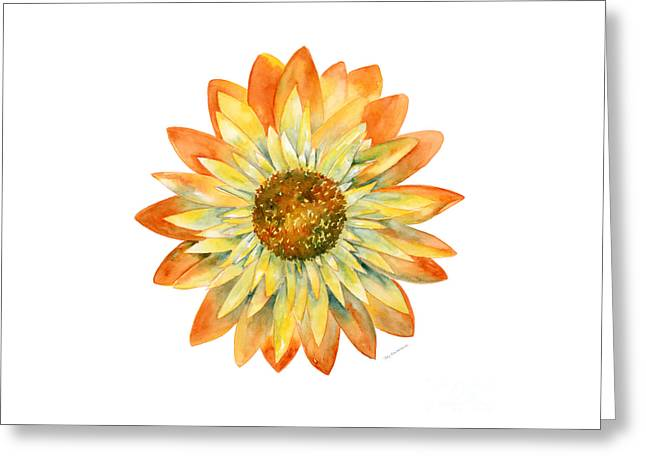Yellow Orange Daisy Greeting Card by Amy Kirkpatrick