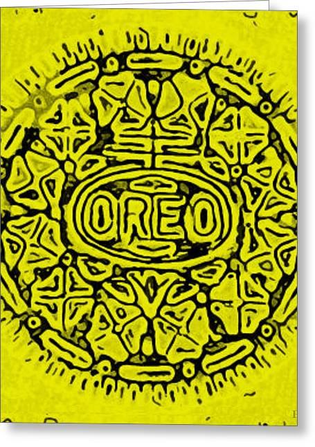 Yellow Oreo Greeting Card by Rob Hans
