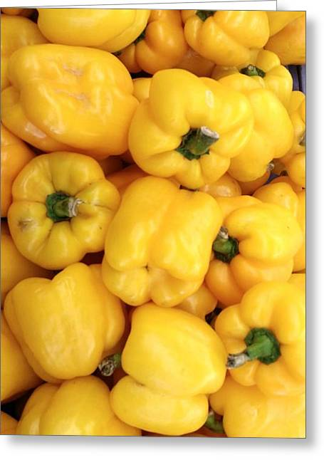 Yellow Peppers Greeting Card by Mark Victors