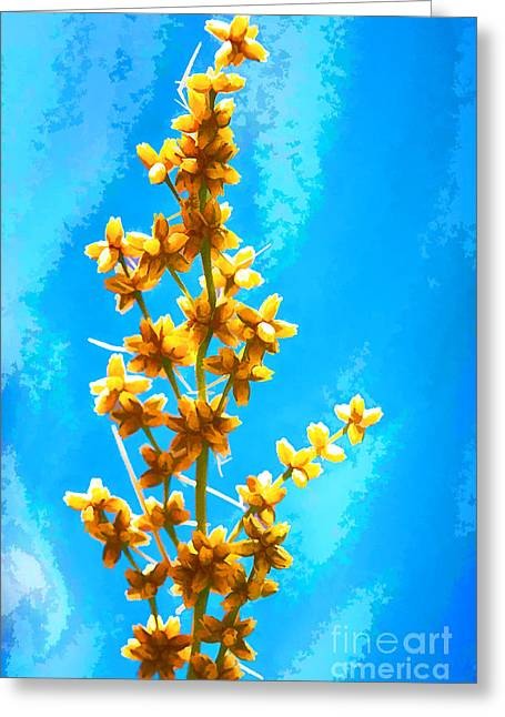 Yellow Plant Greeting Card