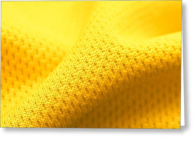 Yellow Polyester Greeting Card by Tom Gowanlock