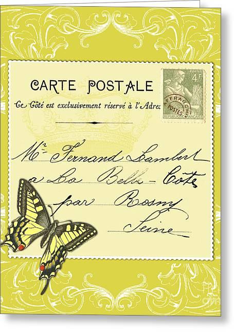 Yellow Postcard Greeting Card