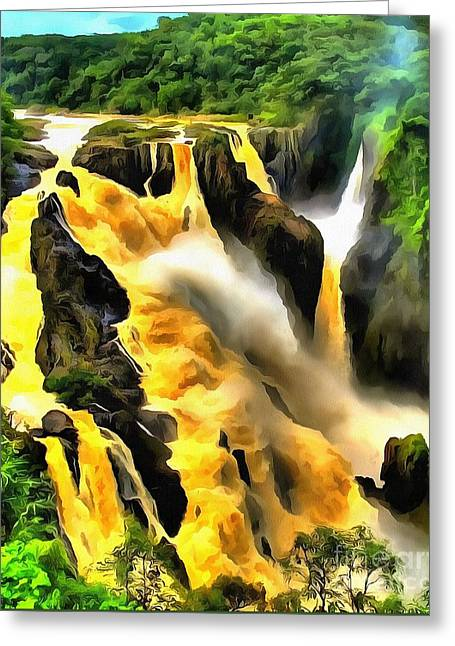 Yellow River Greeting Card by Catherine Lott