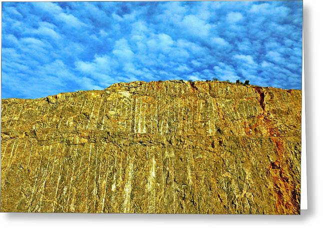 Yellow Rock Greeting Card