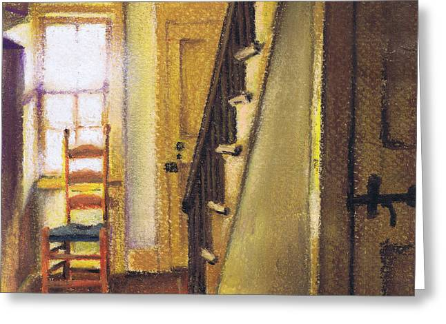 Greeting Card featuring the painting Yellow Room by Susan Herbst