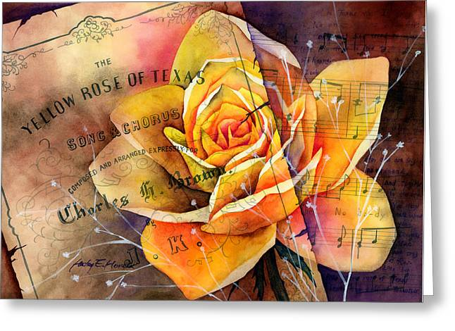 Yellow Rose Of Texas Greeting Card by Hailey E Herrera
