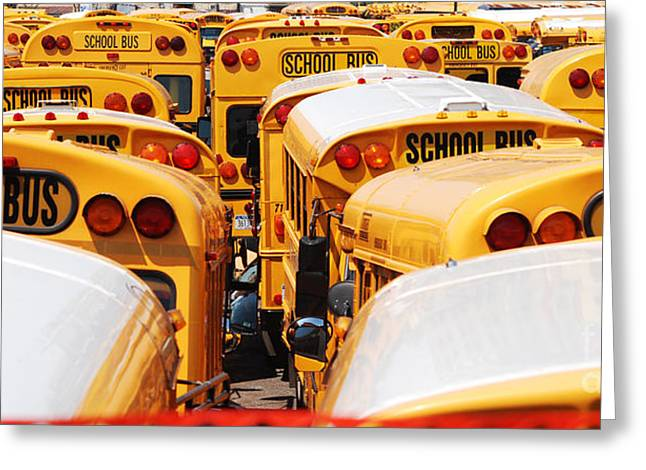 Yellow School Bus Greeting Card