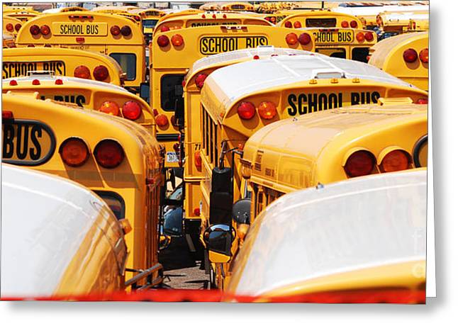 Yellow School Bus Greeting Card