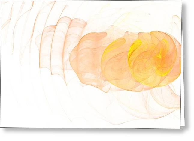 Yellow Splash Greeting Card by Mark Bowden