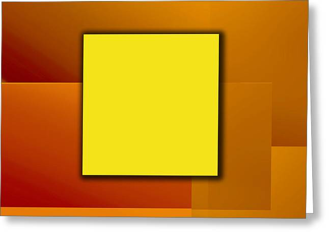 Yellow Square Greeting Card by Christian Simonian
