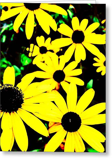 Yellow Stroll Greeting Card by Paul Tully