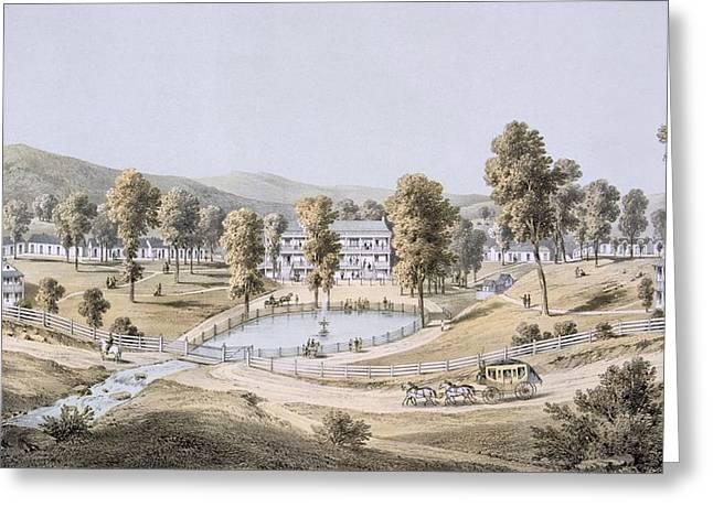 Yellow Sulphur Springs, Montgomery Greeting Card by Edward Beyer