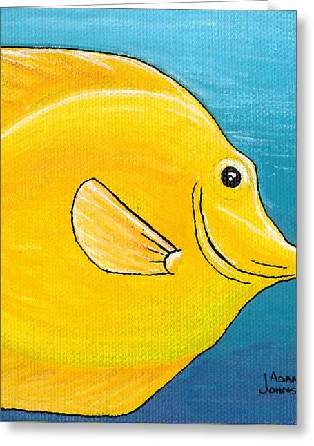 Yellow Tang Greeting Card