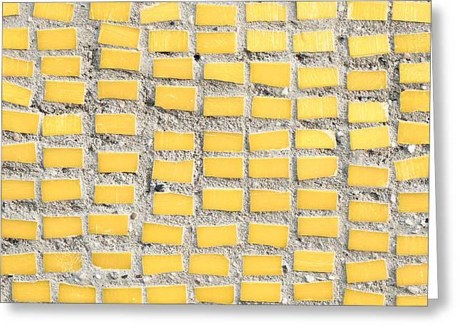 Yellow Tiles Greeting Card