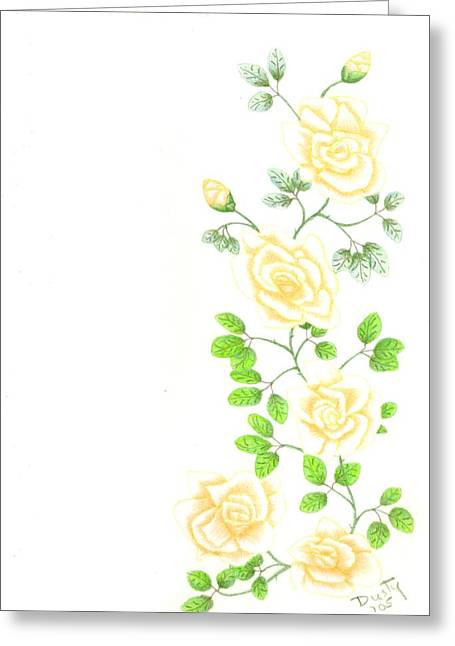 Yellow Trailing Greeting Card by Dusty Reed