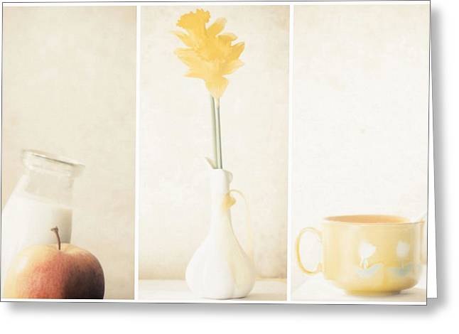 Yellow (triptych) Greeting Card