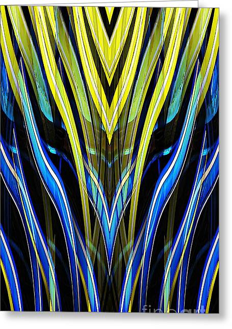 Yellow Tulip Abstract Greeting Card