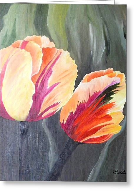 Yellow Tulips Greeting Card by Carola Ann-Margret Forsberg