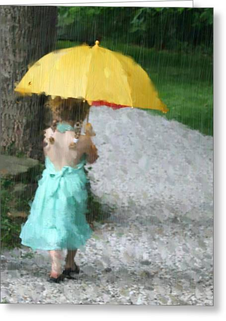 Yellow Umbrella Greeting Card