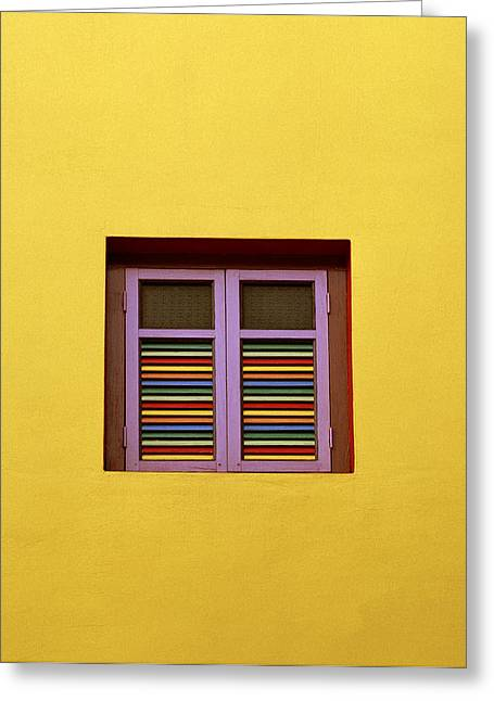 Yellow Wall Greeting Card by Shaun Higson