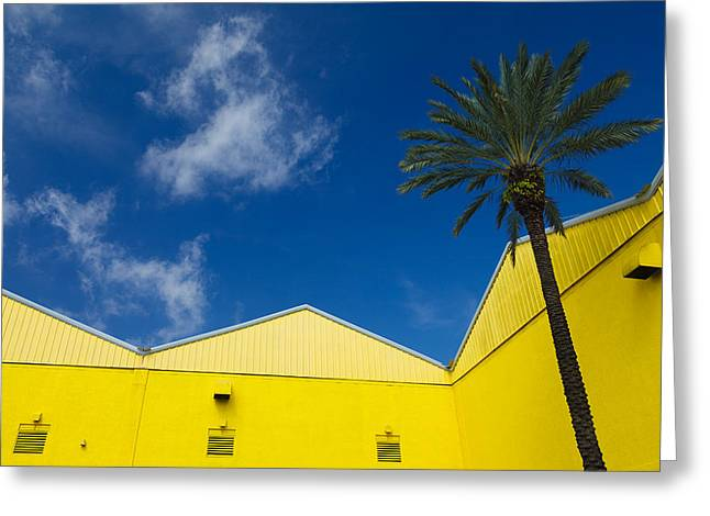 Yellow Warehouse Greeting Card by David Smith