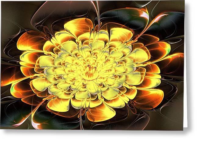 Yellow Water Lily Greeting Card by Anastasiya Malakhova