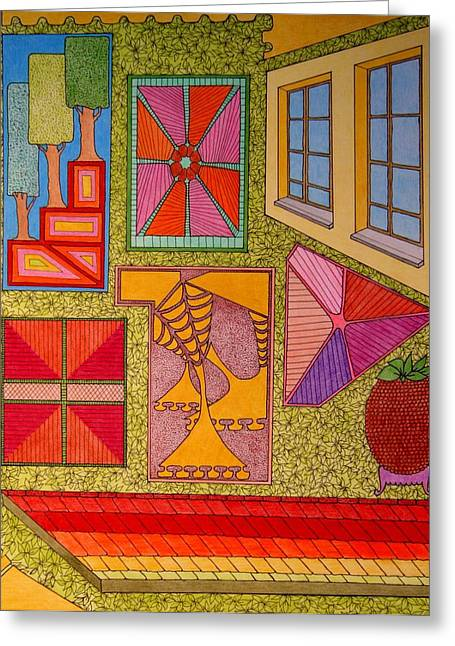 Yellow Window Greeting Card