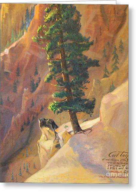 Yellowstone Canyon - Tolpo Point Mural Panel 8 Greeting Card by Art By Tolpo Collection