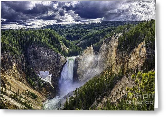 Yellowstone Canyon Lower Falls Greeting Card