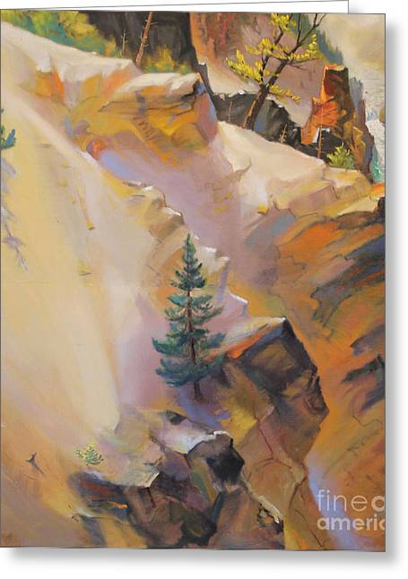 Yellowstone Canyon Mural - Tolpo Point Mural Panel 6 Greeting Card by Art By Tolpo Collection