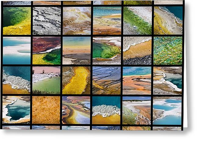 Yellowstone Colors Greeting Card