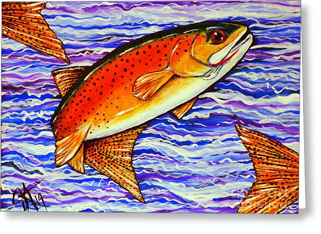 Yellowstone Cutthroat Greeting Card by Jackie Carpenter