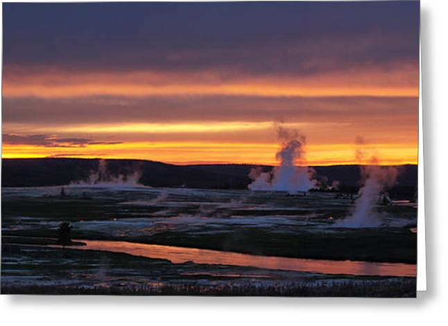 Yellowstone Greeting Card by Darryl Wilkinson