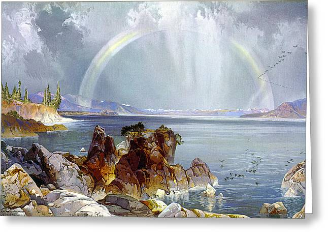 Yellowstone Lake 1875 Greeting Card by Unknown
