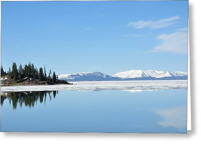 Yellowstone Lake In The Spring Greeting Card