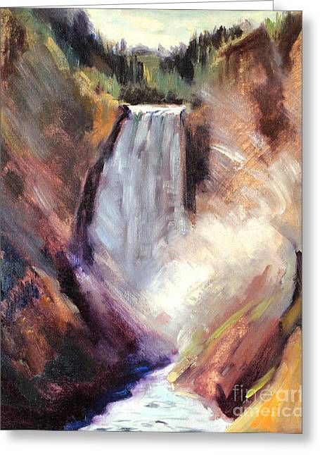 Yellowstone Lower Falls - 1939 Greeting Card