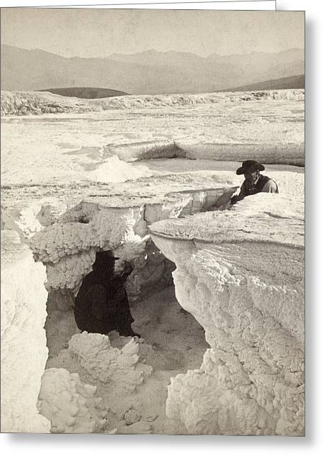 Yellowstone Park Crater Greeting Card by Granger