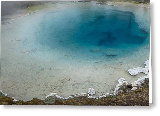 Yellowstone Pool Greeting Card by David Yack