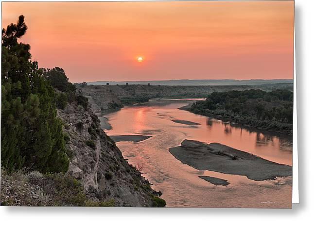 Yellowstone River Color Greeting Card by Leland D Howard