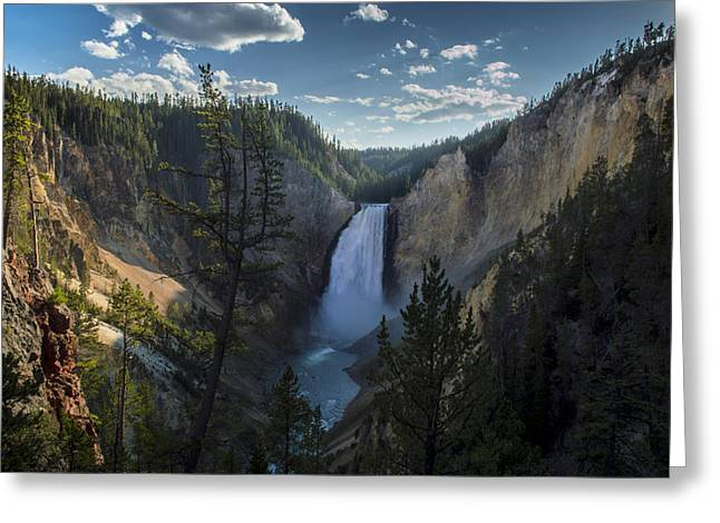 Yellowstone River Lower Falls Greeting Card