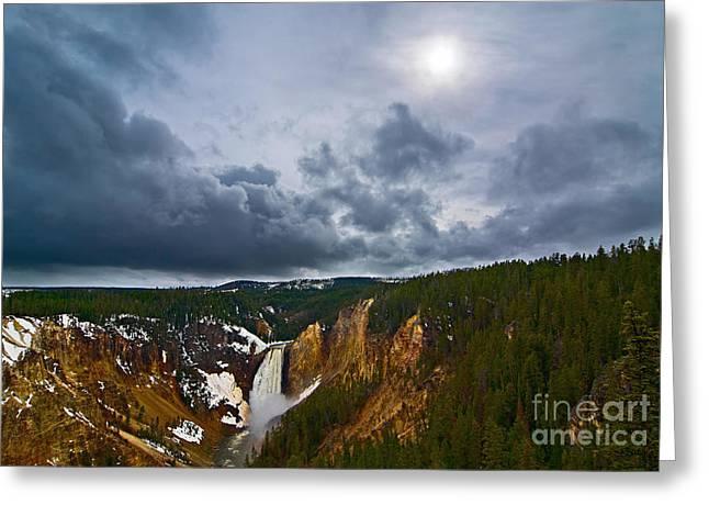 Yellowstone Storm Greeting Card